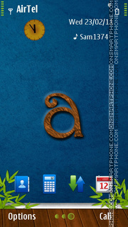 Alphabet A theme screenshot