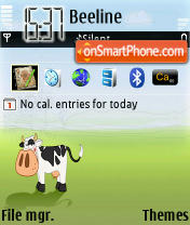 Cow theme screenshot