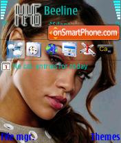 Скриншот темы Rihanna
