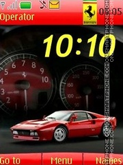Ferrari anim swf theme screenshot