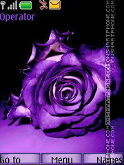 Violet rose tema screenshot