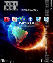 Nokia Earth tema screenshot