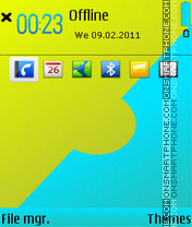 Lemon and blue tema screenshot
