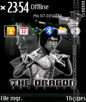 The dragon lee theme screenshot