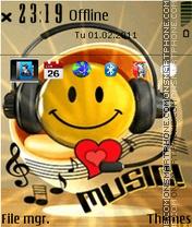 Smiley Love Music tema screenshot