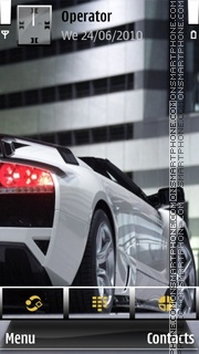 White Lamborghini theme screenshot