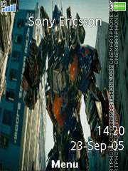 Transformers movie tema screenshot