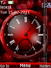 Pomegranate and Clock theme screenshot