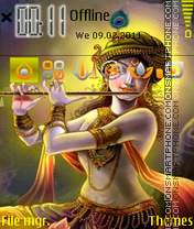 Lord Krishna 06 theme screenshot