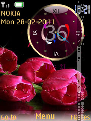 Holiday Clock theme screenshot