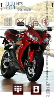 Red Bike 02 theme screenshot