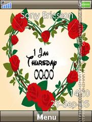 Rose Heart Clock es el tema de pantalla