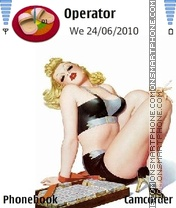 Blonde pinup tema screenshot