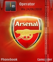 Arsenal fc tema screenshot