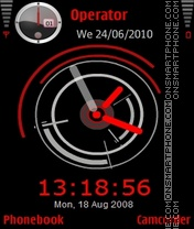Red Clock theme screenshot