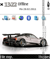 Pagani Zonda 01 tema screenshot