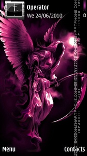 Pink Angel theme screenshot