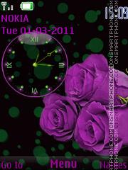 Violet roses es el tema de pantalla