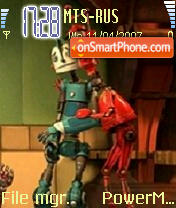 Robots theme screenshot