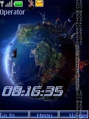 Скриншот темы Space the techno earth_swf