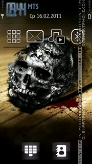 Skull 2012 tema screenshot