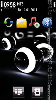 3d Balls Lights theme screenshot