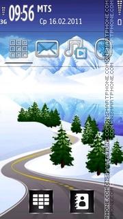 Winter Road 01 es el tema de pantalla