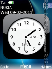 SWF Clock 01 theme screenshot