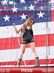 Miley Cyrus 21 theme screenshot