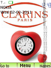 Clarins Paris tema screenshot