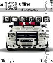 Mercedes Gelandewagen theme screenshot