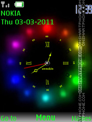Glow clock theme screenshot