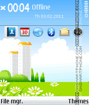 Green city tema screenshot