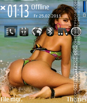 Summer beach 01 theme screenshot