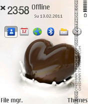 Chocolate Heart theme screenshot