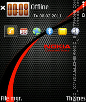 Nokia red 04 theme screenshot