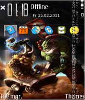 Warcraft Dota 02 theme screenshot