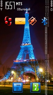 Скриншот темы Eiffel Tower 11
