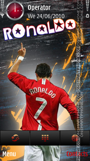 Ronaldo mu 7 by di_stef theme screenshot