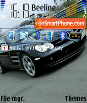 Mercedes Benz SLR Mclaren theme screenshot