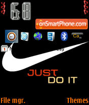 Black Nike theme screenshot