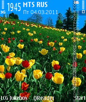 Tulips-Field tema screenshot