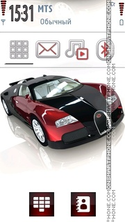 Bugatti Veyron 13 theme screenshot