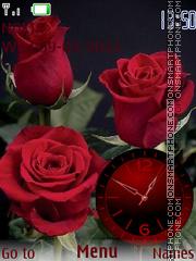 Capture d'écran Roses thème