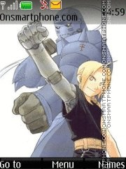 Скриншот темы Full Metal Alchemist (like in manga)