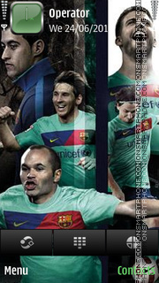 Barca team by di_stef tema screenshot