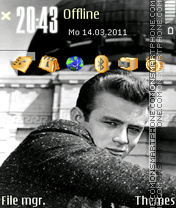 James Dean theme screenshot