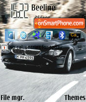 BMW 6 series theme screenshot