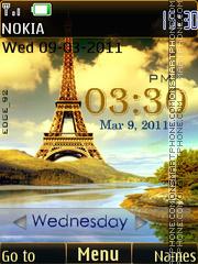 Eiffel Tower Clock theme screenshot