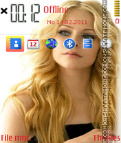 Avril lavigne 11 theme screenshot